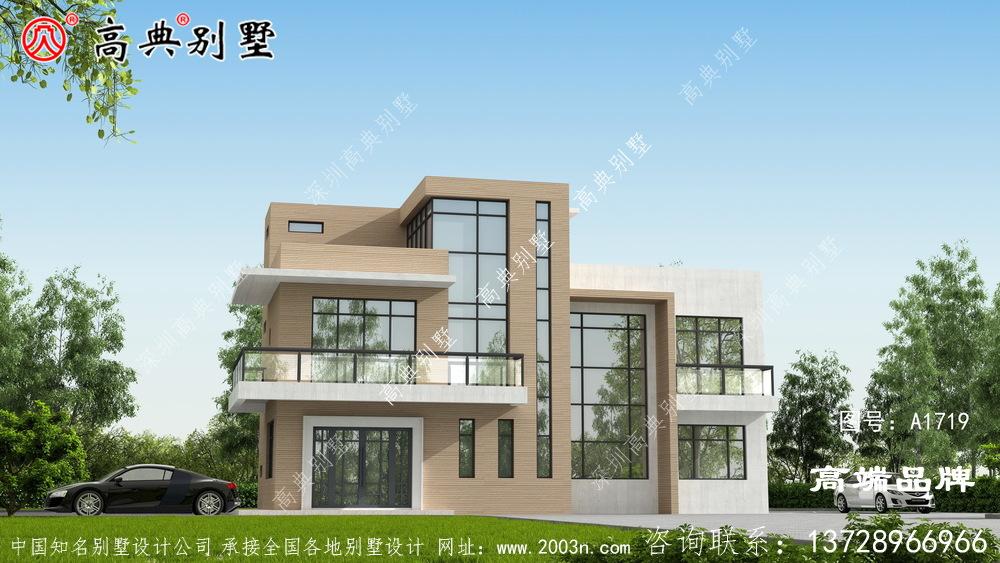 清新而自然的三层现代风格别墅现代_农村小别墅设计小图片